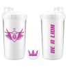 SHAKER BE A LION BLANCO Y ROSA 700 ml