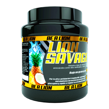 PREENTRENO BE A LION SAVAGE 400 Gr - PIÑA COCO