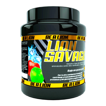PREENTRENO BE A LION SAVAGE 400 Gr - MANZANA